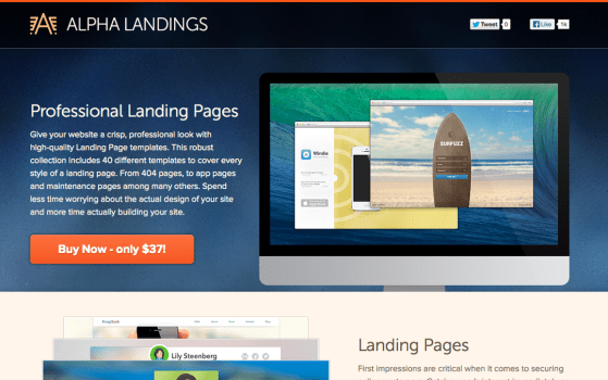 40 Professional Landing Pages for Designers