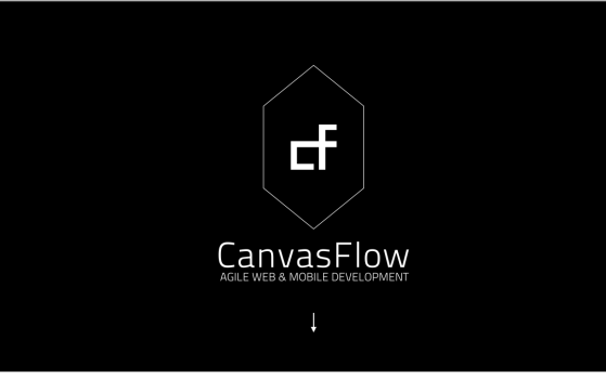 one page website for canvasflow