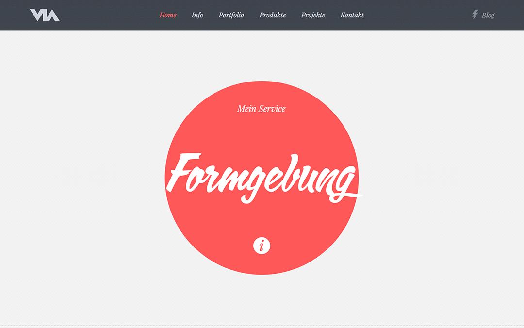 SVG one page websites