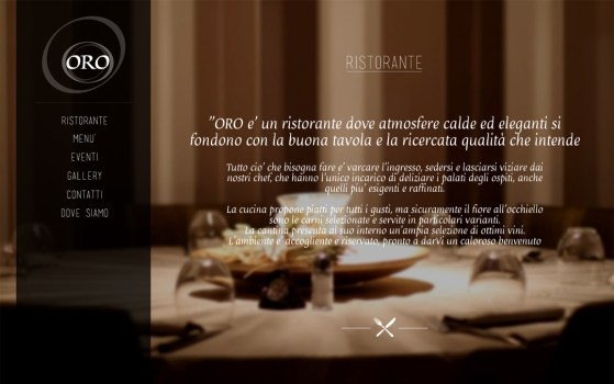 single page website for a restaurant