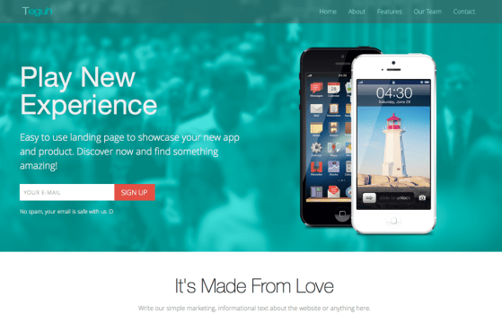 Teguh - Easy to Use Responsive Landing Page
