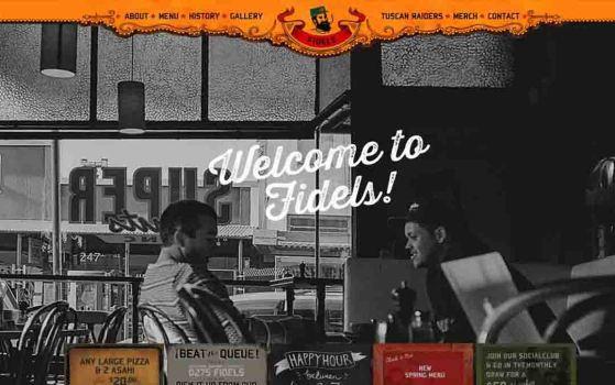 fidels cafe one page websites