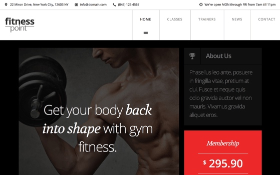 FitnessPoint Gym Template