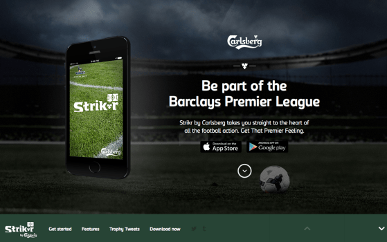 Barclays Premier League Strikr by Carlsberg