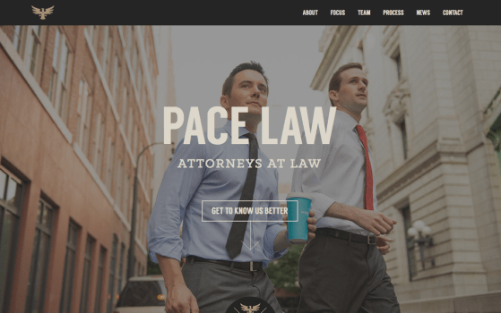one pager for a Boutique law firm
