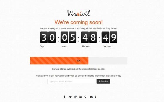 Free coming soon launching soon website