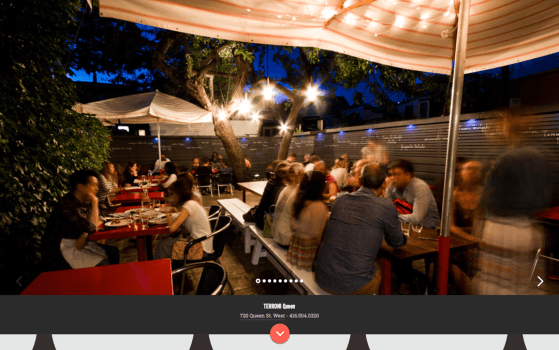 terroni italian restaurants website