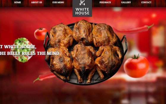 white house restaurant website