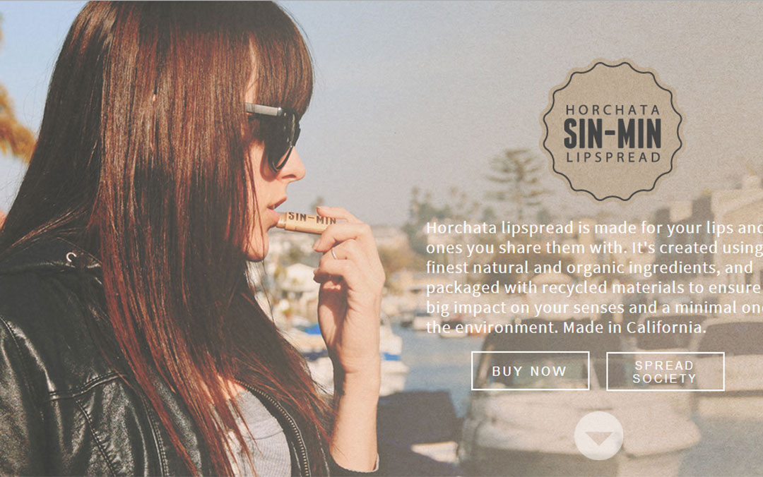 clean onepage website with big images