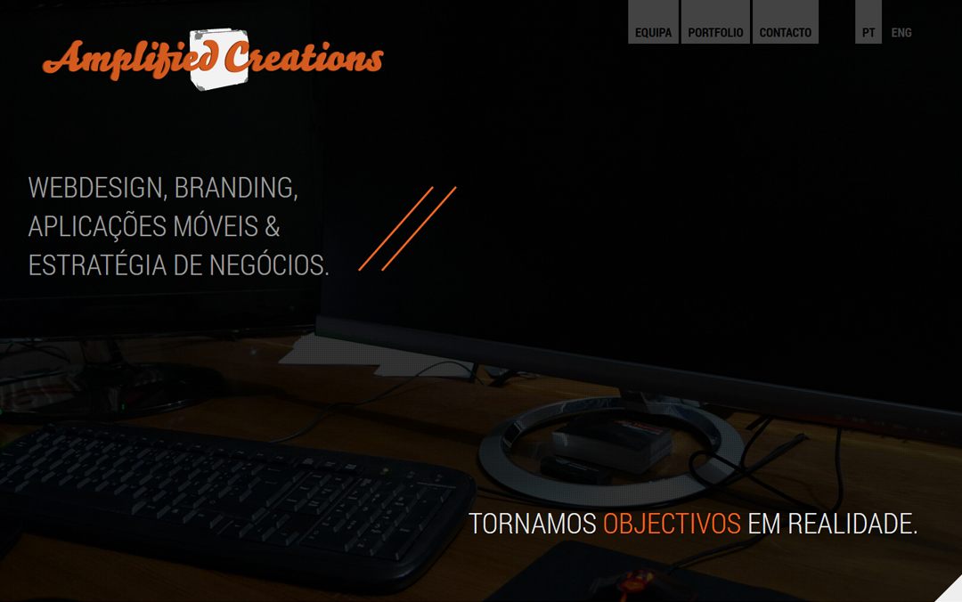 amplified creations one page portfolio