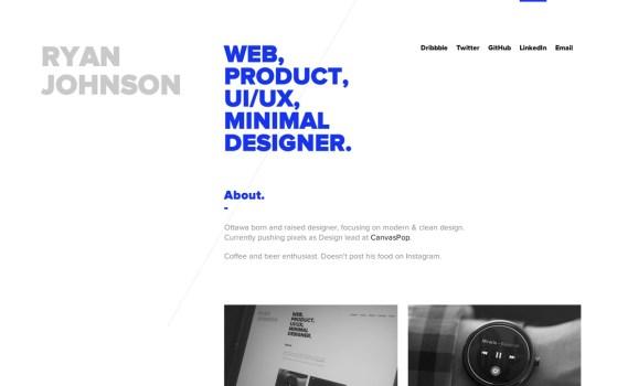 one page ui ux websites