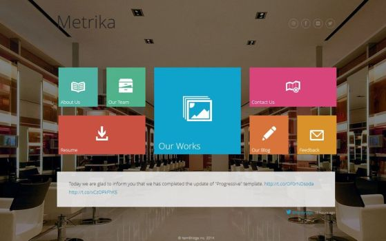 Metrika — Responsive One Page WordPress Theme