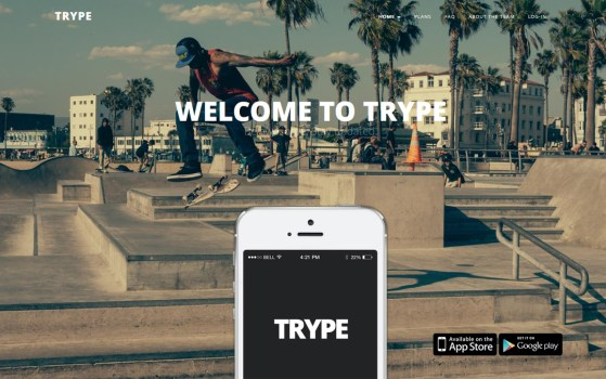 trype single page template