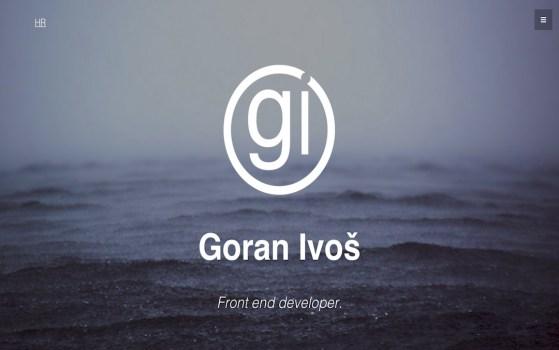 goran ivos one page web design
