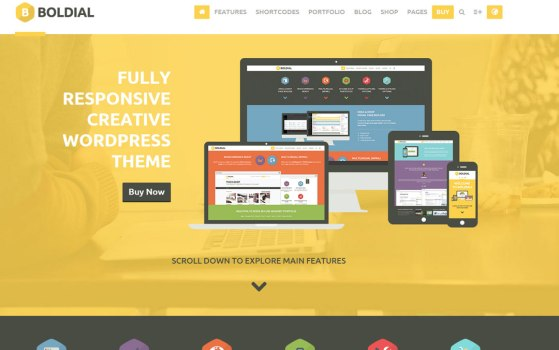 yellow one page website