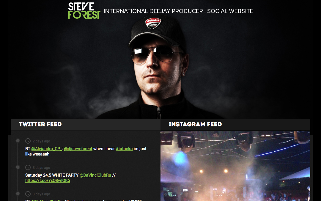 steve forest one page social site