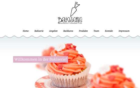 bakiserie one page bakery website
