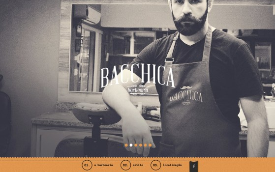 Bacchica Barbearia one page service website