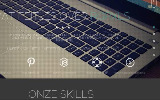 fullscreen portfolio site