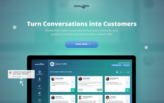 landing page for an app site