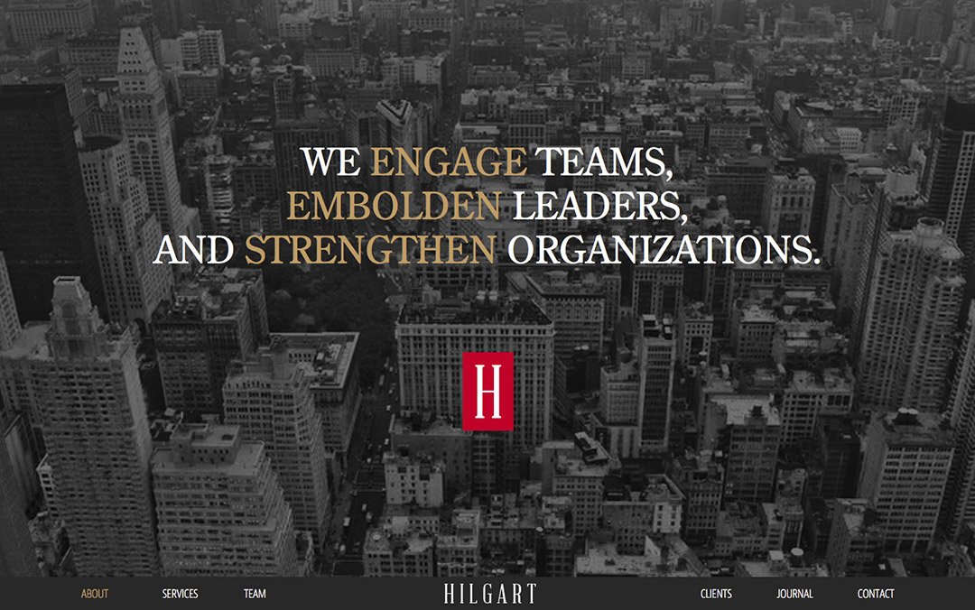 hilgart one page website