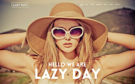 Lazy Day free one page PSD template