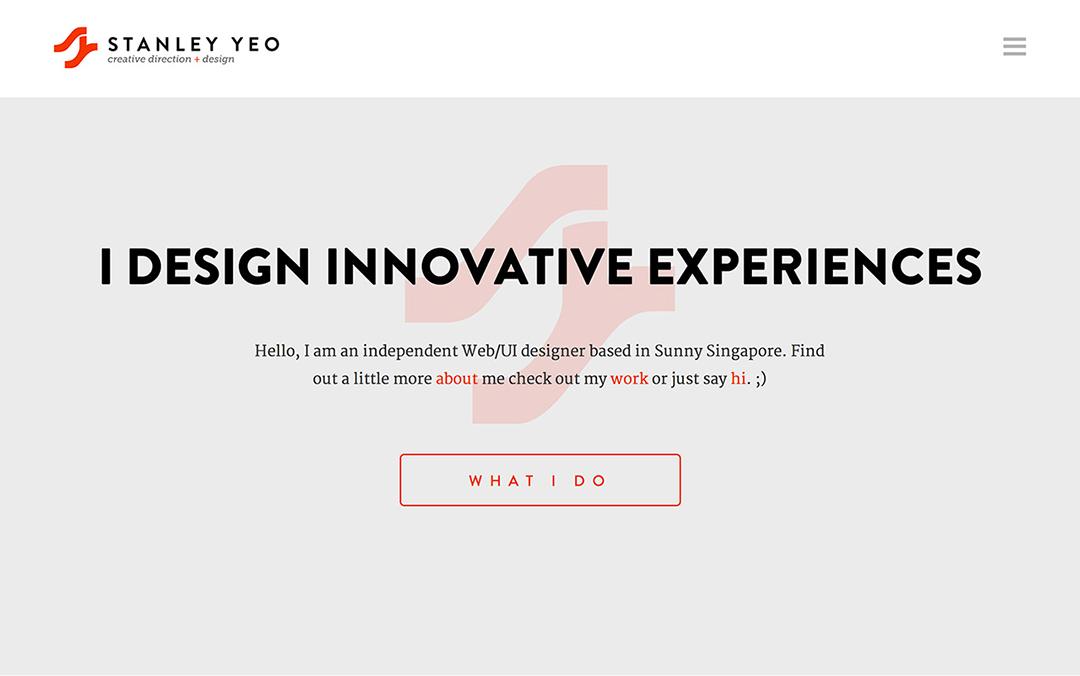 one page portfolio design