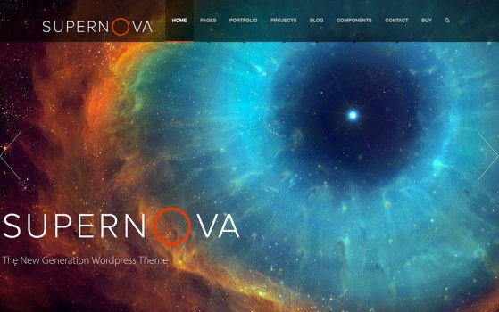 SUPERNOVA ONE PAGE WORDPRESS THEME