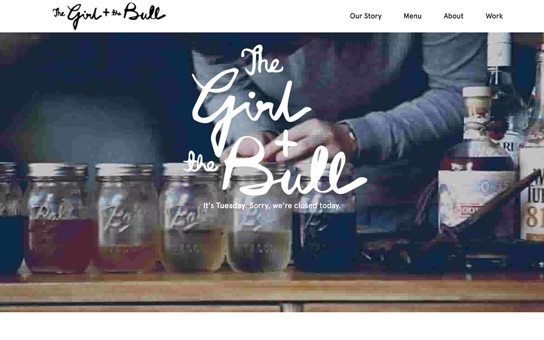 the girl + the bull