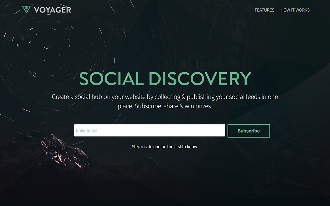 voyager one page coming soon site