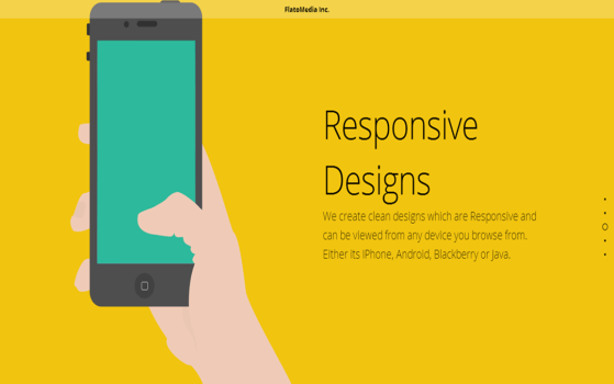 Flat one page web design