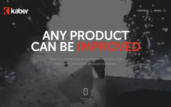 one page product website for a product company
