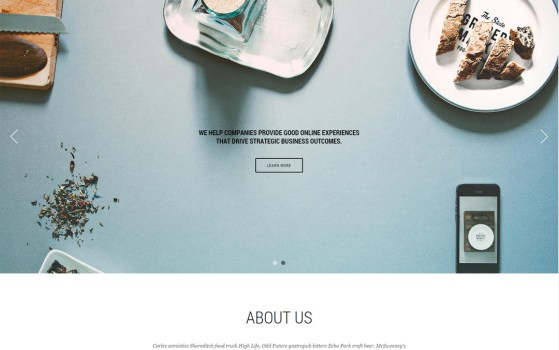 responsive wordpress theme one pager