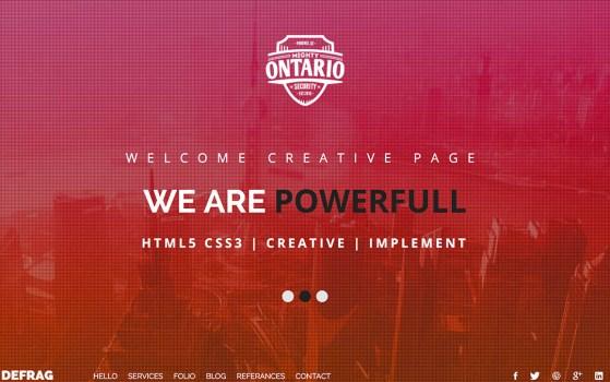 Defrag - One Page Personal - Portfolio HTML