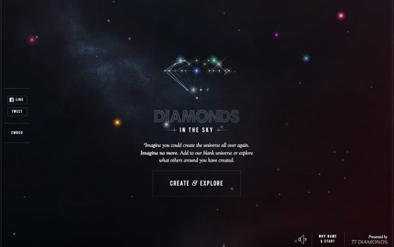 diamonds in the sky one page site