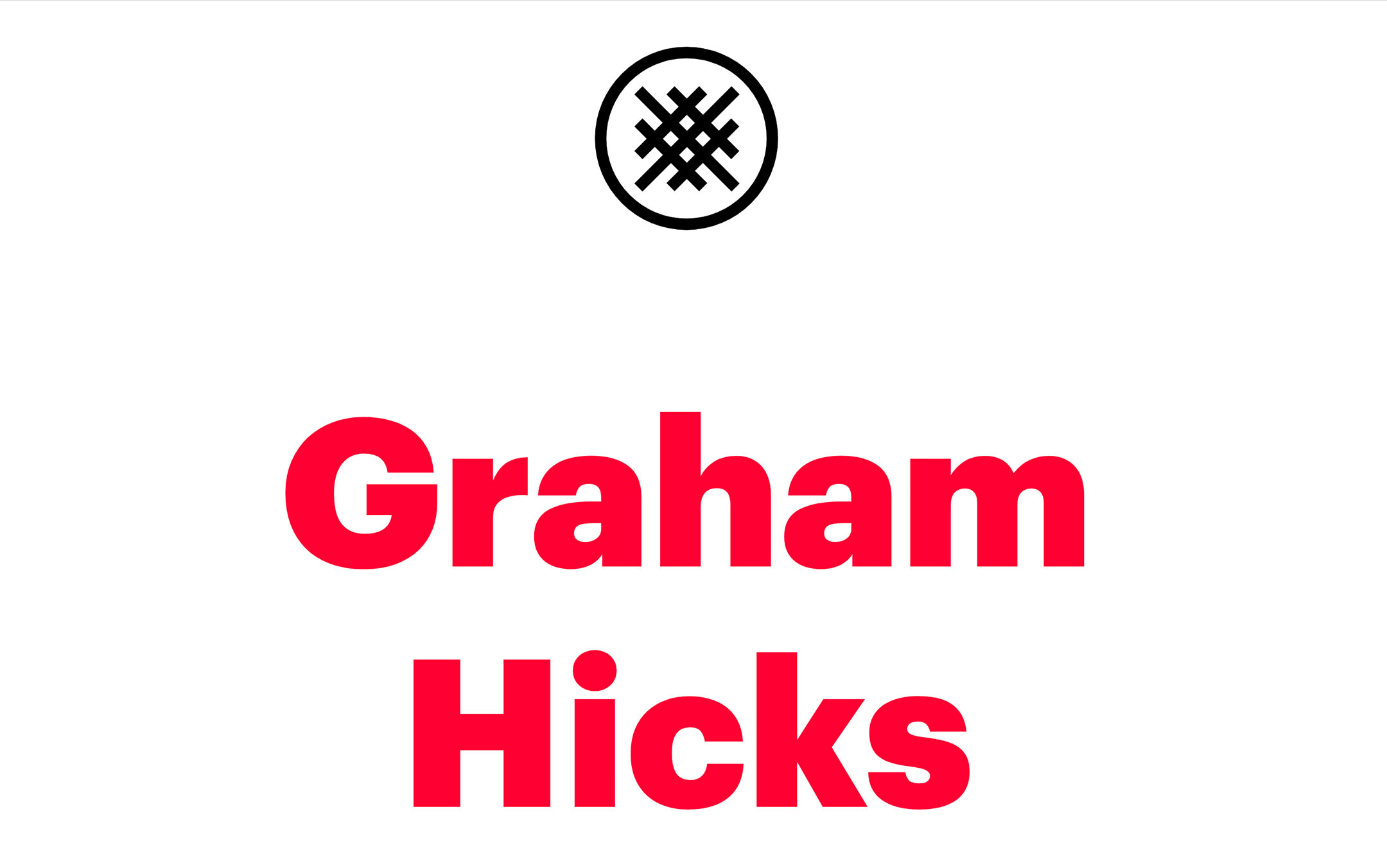 Graham Hicks one pager