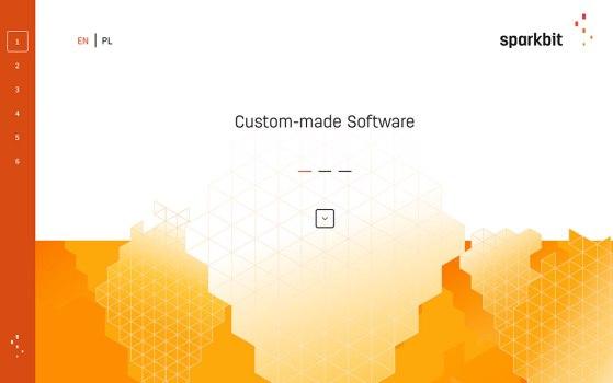single page portfolio website for sparkbit