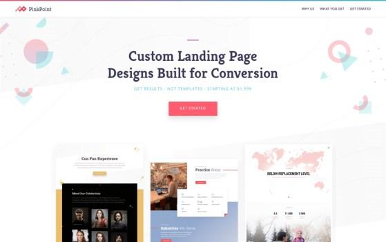 custom designed landing page