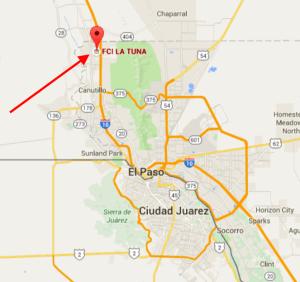 George Christie La Tuna FCI Texas map