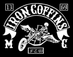 Iron Coffins MC patch logo