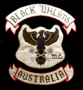 Black Uhlans MC patch logo
