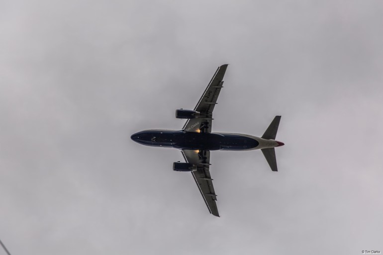 G-EUPC Airbus: Coming into land at Heathrow.
