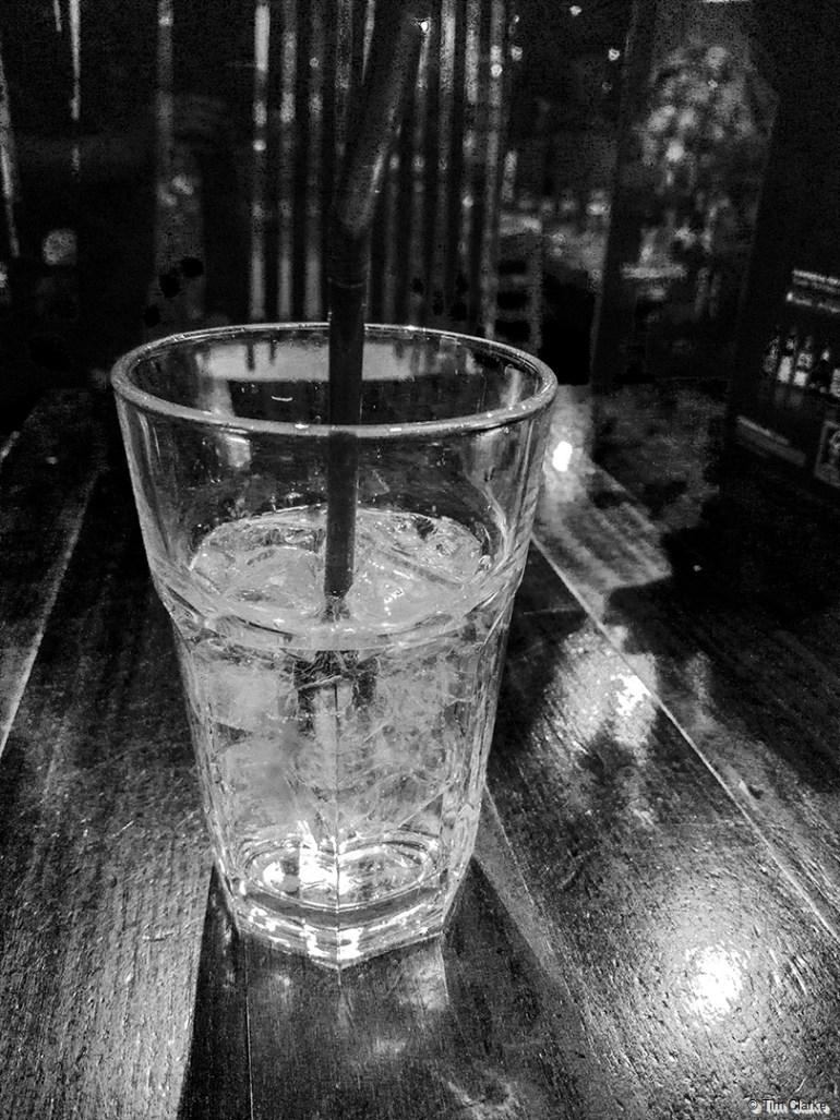 Lemonade Glass and Ice.