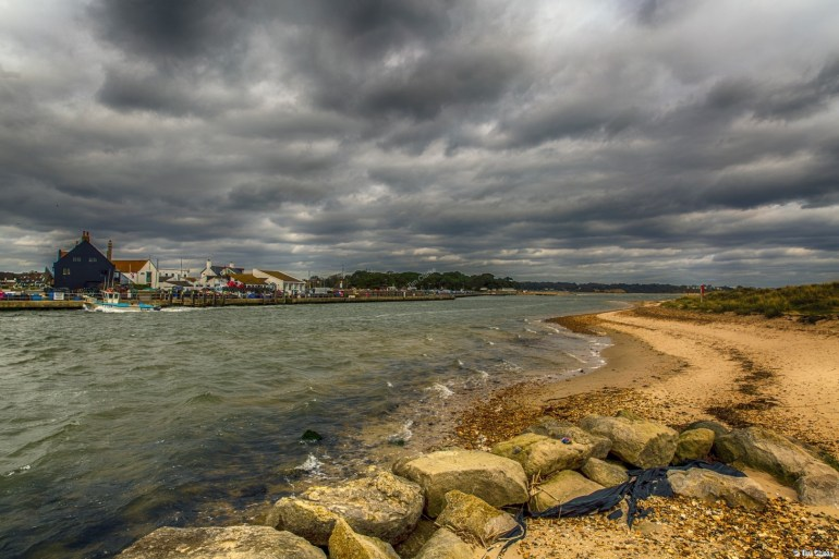 Mudeford Quay and The Race from Hengistbury Head.