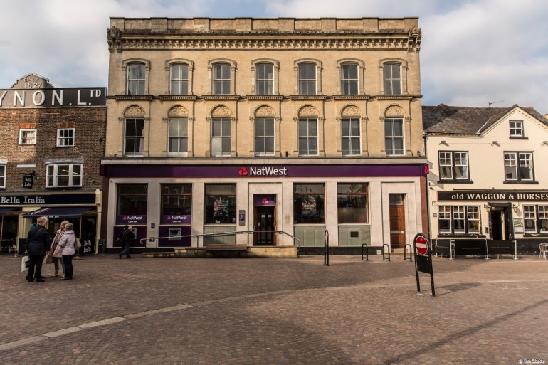 NatWest Bank, Newbury: Former London and County Bank.