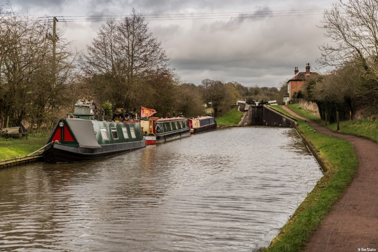 Tardebigge Locks: Looking towards the Top Lock.