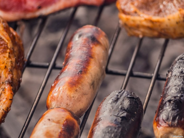 Barbecue: You can just smell the meat cooking!