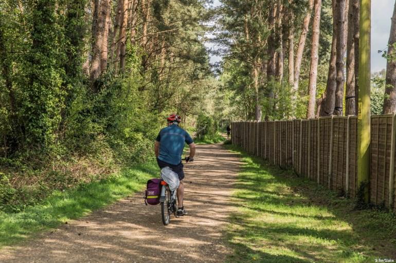 Castleman Trailway: Site of the Ashley Heath Halt, near Ringwood.