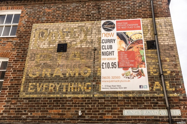 Povey's Newbury: Ghost Sign in Cheap Street / Kings Road (West).