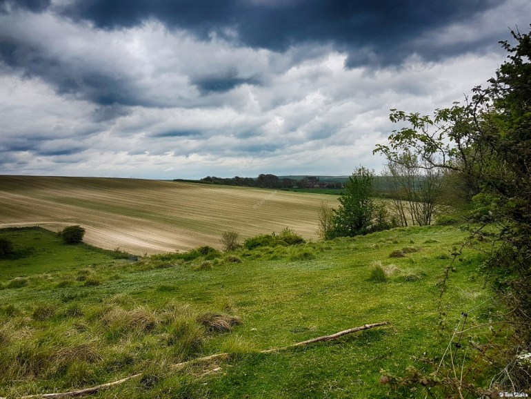 Sussex Downs: Cloudscape and Rolling Hills.
